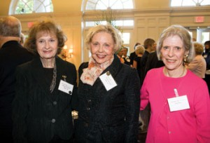 From left: Bernice Gordon, BS'56, Ann Carell, BS'57, and  Edie Bass
