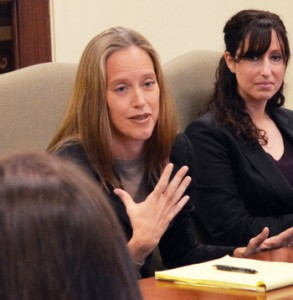 Wendy Kopp, founder and CEO of Teach for America and Teach for All, participated in a roundtable discussion with select Peabody faculty and administrators while on campus for a public lecture in January.