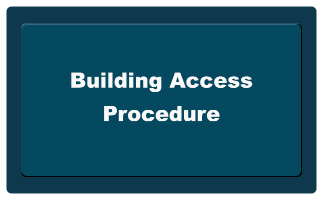 Building Access Procedure button