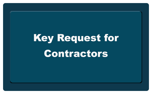 Key Request for Contractors button
