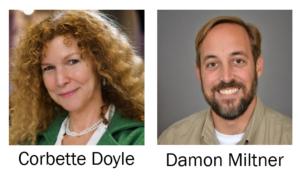 Headshots of presenters Corbette Doyle and Damon Miltner