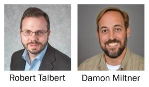 Headshots of presenters Robert Talbert and Damon Miltner