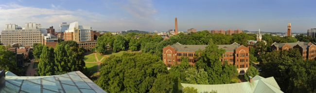 Aerial view of Vanderbilt campus