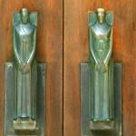 Benton Chapel front door handles