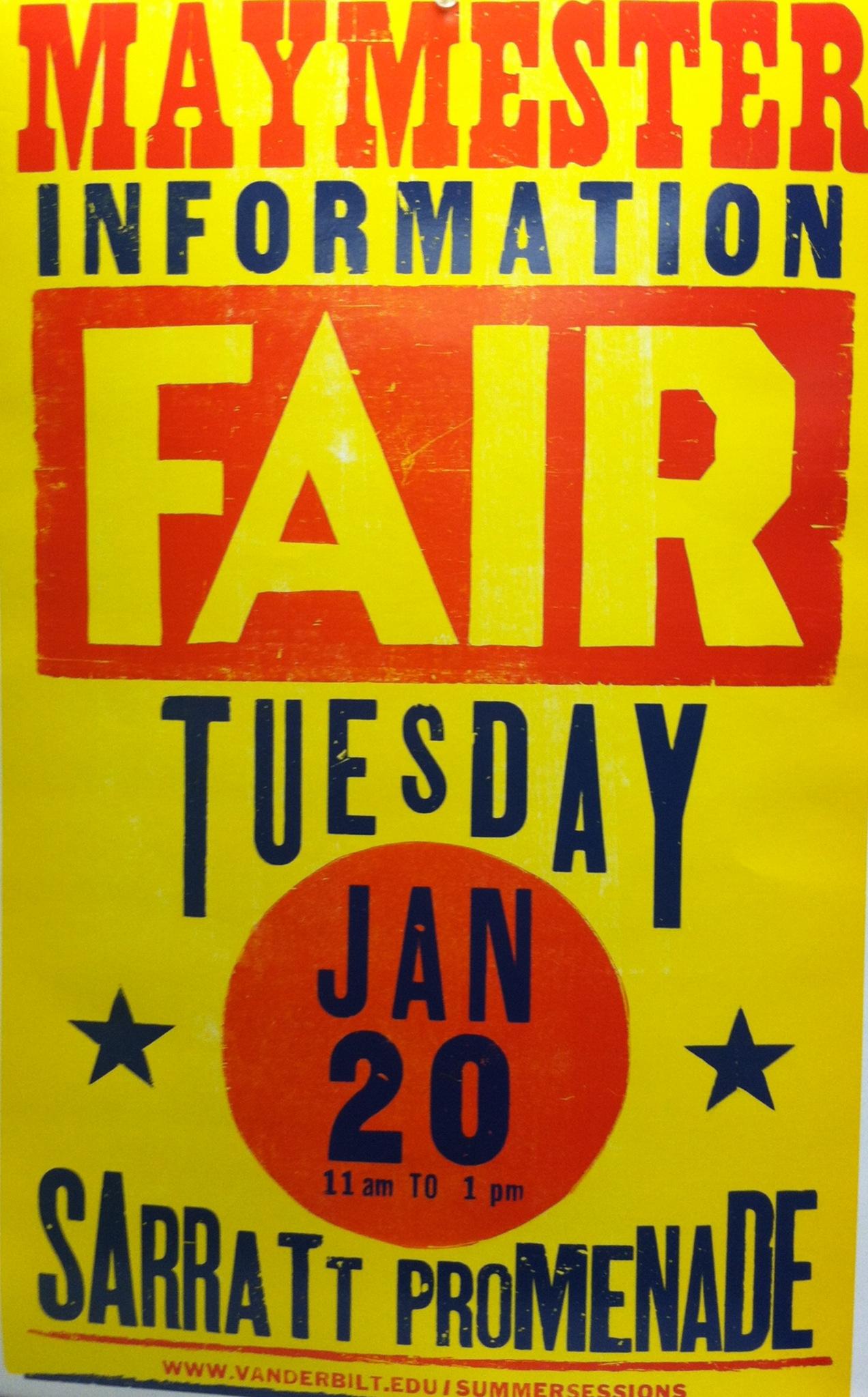 Maymester fair poster