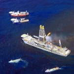 Operation at BP Macondo spill in Gulf of Mexico (photograph by J Henry Fair, 2010)