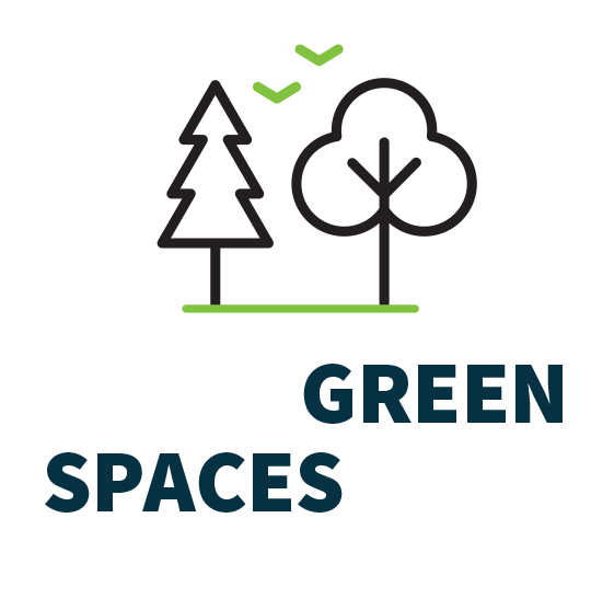 Increase GREEN SPACES across campus