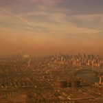 Photograph shows air pollution in New York City. Photo courtesy of Photos.com