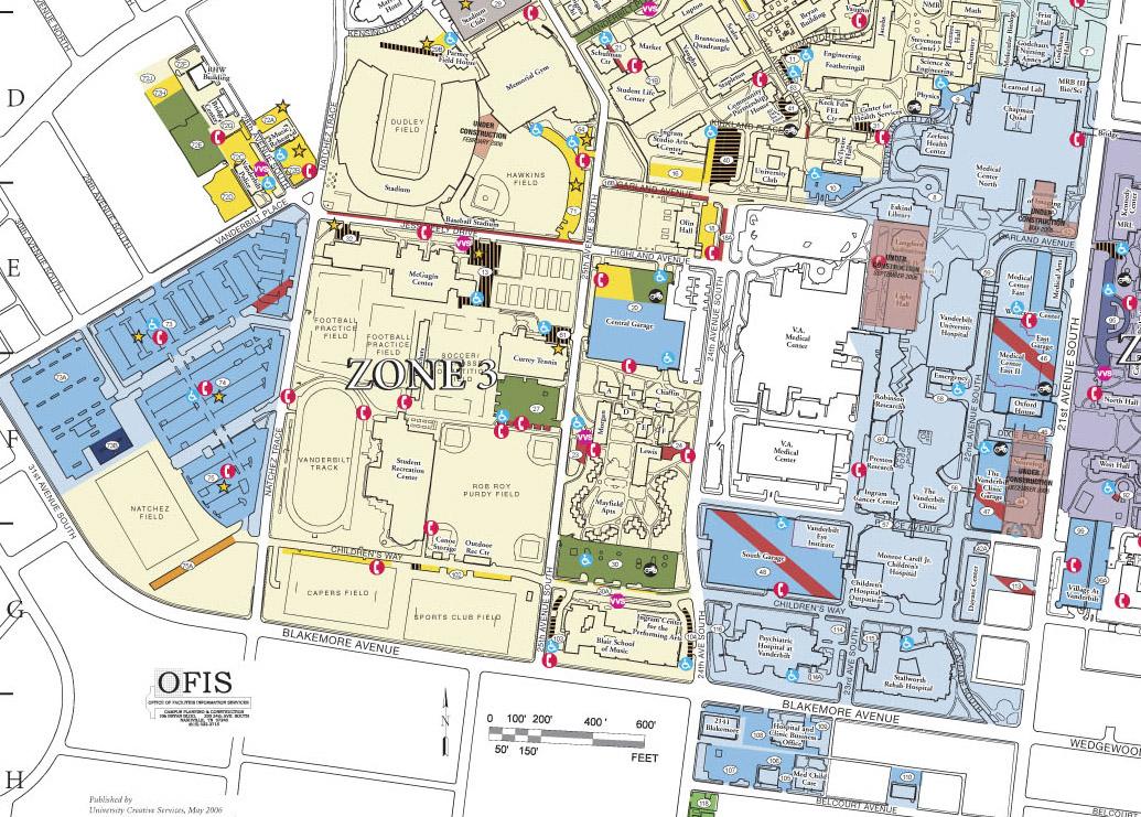 Vanderbilt Parking Map Parking   Medical Center | Maps | Parking Services | Vanderbilt