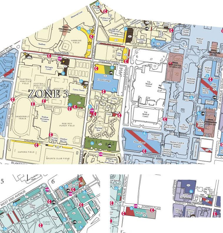 Vanderbilt Parking Map Parking   Visitor | Maps | Parking Services | Vanderbilt University