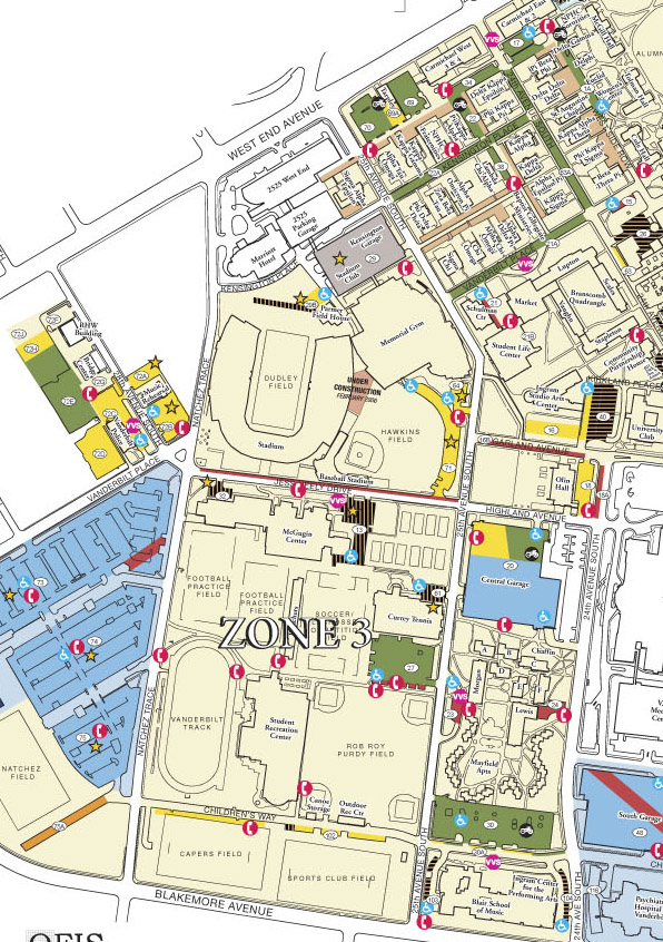 Parking - F Permits | Maps | Parking Services | Vanderbilt University
