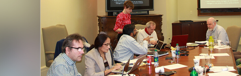 A research advisory team composed of faculty from other institutions meets with VIEE researchers to offer suggestions on how to expand and improve research efforts.