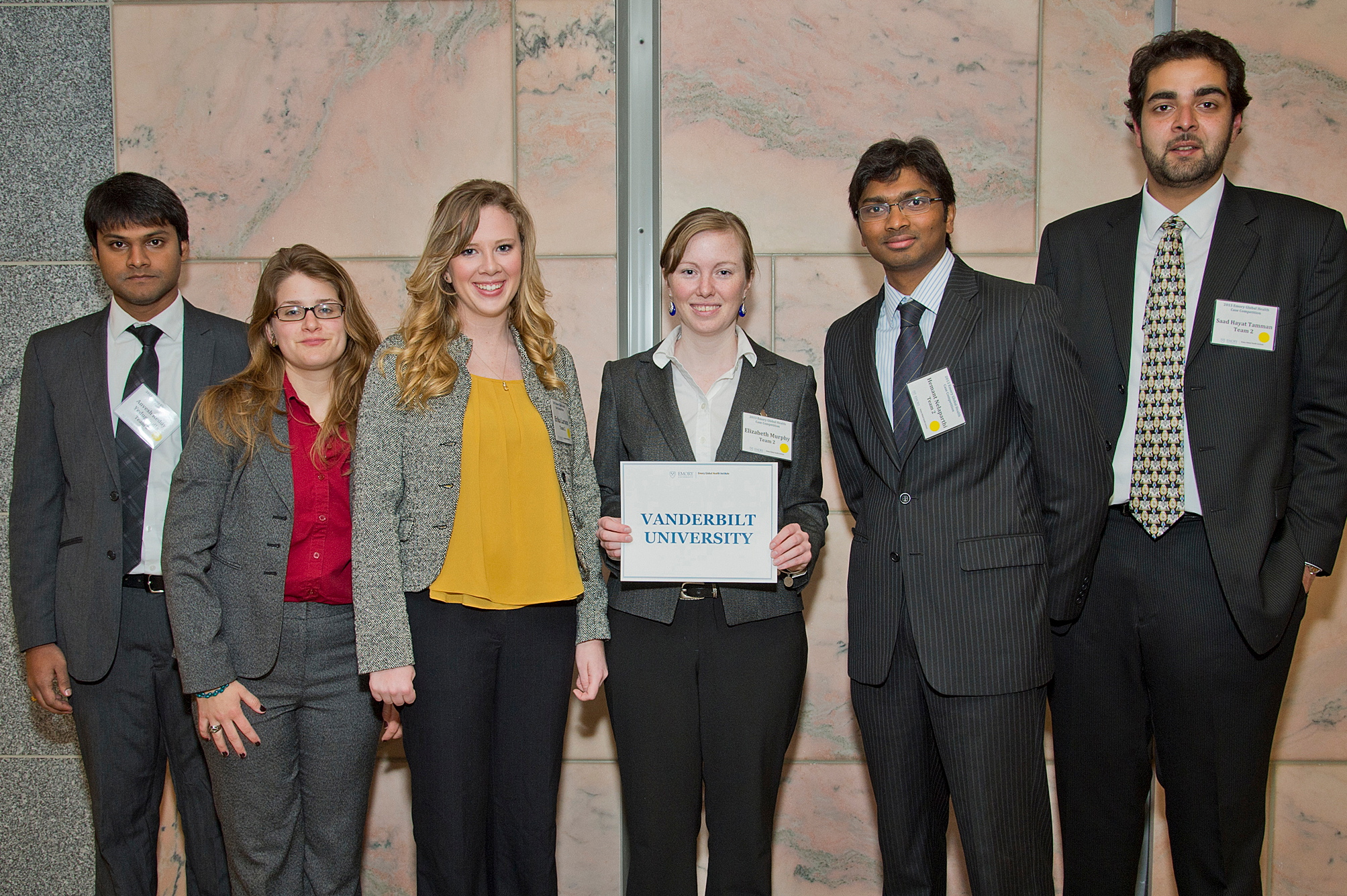 Vanderbilt's team at the Emory International Global Health Case Competition