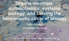 Organs-on-chips, metabolomics, systems biology, and closing the hermeneutic circle of biology