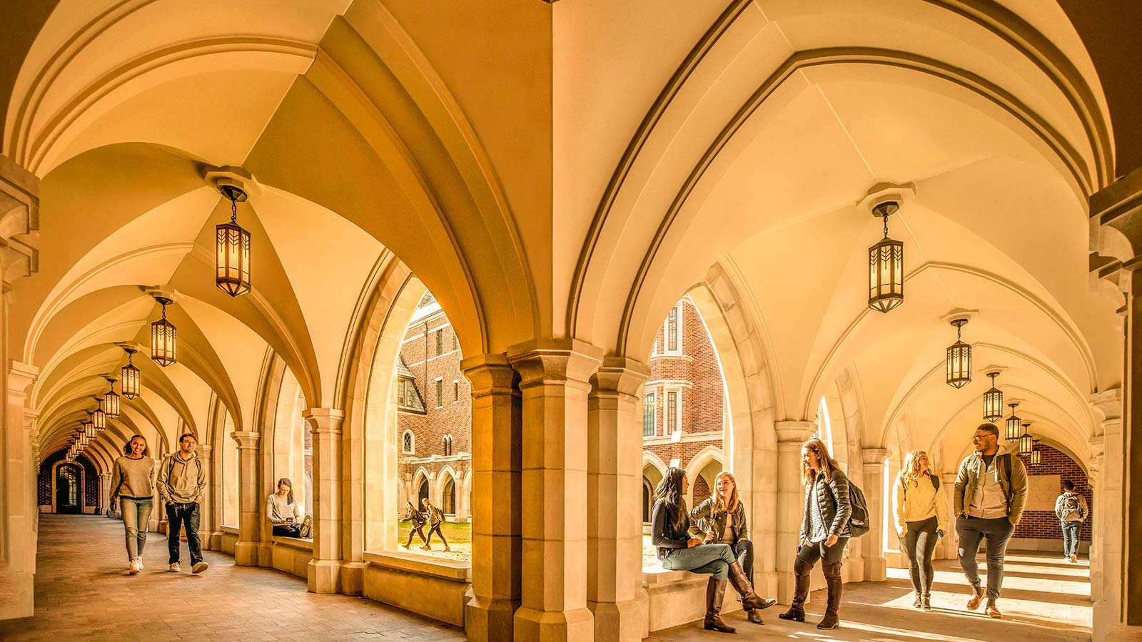 residential colleges architecture with students