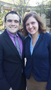 Ryan Selvaggio and Caroline Walker 2015-2016 Travelling Fellows